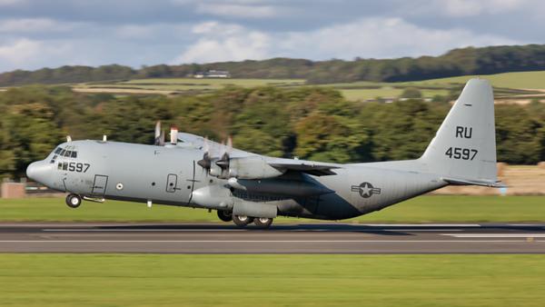 164597. Lockheed KC-130T. Hercules. US Navy. Prestwick. 280819.