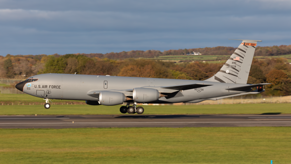 62-3578. Boeing KC-135R Stratotanker. USAF. Prestwick. 201019.