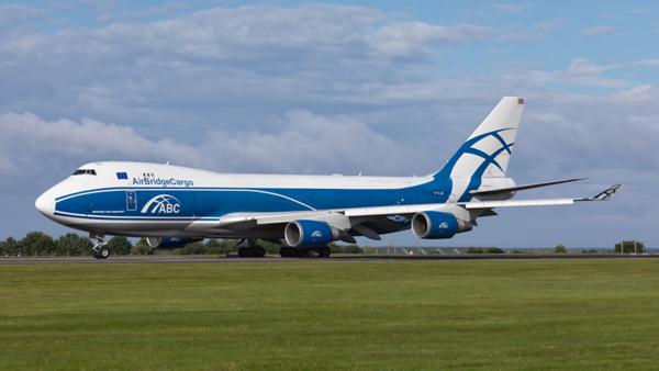 G-CLAE. Boeing 747-4EVF(ER). Air Bridge Cargo. Prestwick. 180619.