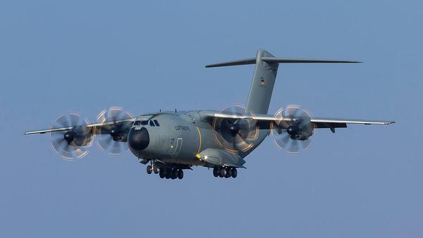 54+07. Airbus A400M Atlas C1. Luftwaffe. Prestwick. 120419.