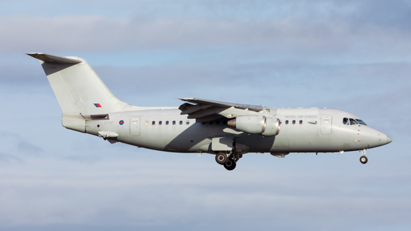 ZE707. British Aerospace BAe 146 C.3. RAF. Prestwick. 131119.