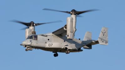 168626. Bell Boeing MV-22B Osprey. US Marines. Prestwick. 260819.