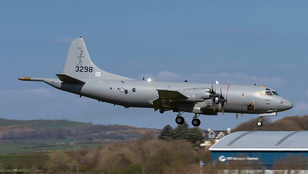 163298. Lockheed P-3C Orion. Royal Norwegian Air Force. Prestwick. 090419.