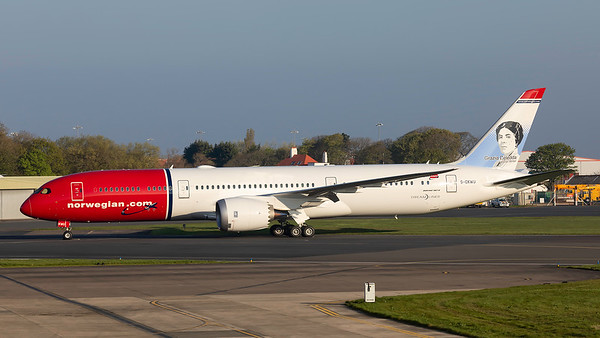 G-CKWU. Boeing 787-9 Dreamliner. Norwegian. Prestwick. 220419.