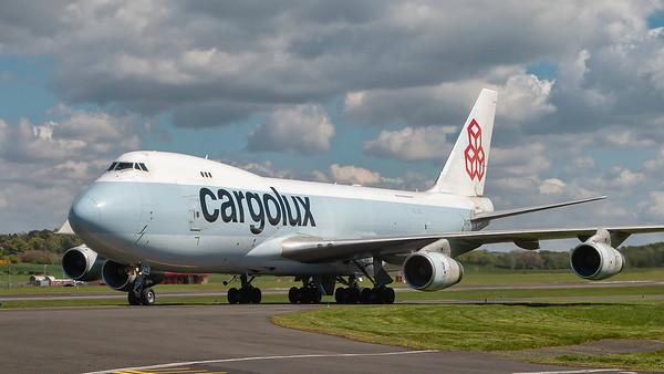 LX-FCL. Boeing 747-467(F). Cargolux. Prestwick. 290419.