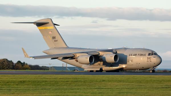 05-5147. Boeing C-17A Globemaster III. USAF. Prestwick. 041119.