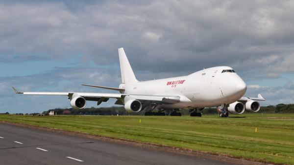 N701CK. Boeing 747-4B5ERF. Kalitta Air. Prestwick. 150819.