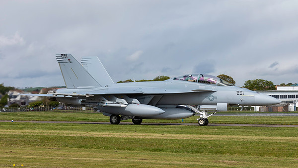 169653. McDonnell Douglas F/A-18F Super Hornet. US Navy. Prestwick. 060519.