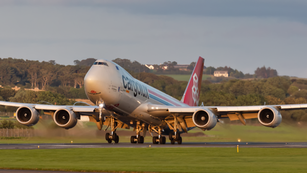 LX-VCC. Boeing 747-8R7F/SCD. Cargolux. Prestwick. 070819.