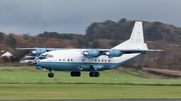 UR-CBG. Antonov An-12BP. Cavok Air. Prestwick. 031119.