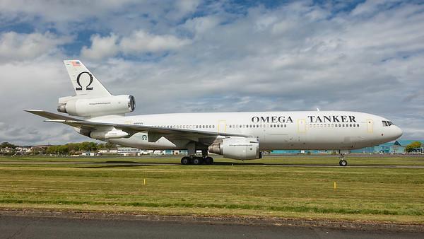 N974VV. McDonnell Douglas KDC-10-40I. Omega Air. Prestwick. 060519.