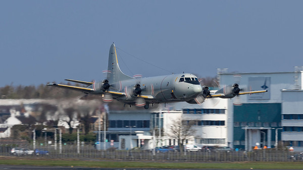 60+03. Lockheed P3-C Orion. German Navy. Prestwick. 110419.