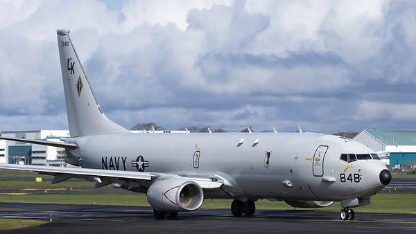 168848. Boeing P-8A Poseidon. US Navy. Prestwick. 020419.