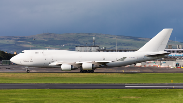 N473MC. Boeing 747-45E(BDSF). Atlas Air. Prestwick. 150819.