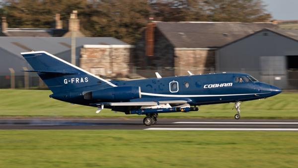 G-FRAS. Dassault Falcon 20C. Cobham. Prestwick. 071019.