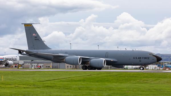 58-0054. Boeing KC-135R Stratotanker. USAF. Prestwick. 300919.
