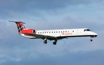 G-SAJO. Embraer ERJ-145MP. Loganair. Prestwick. 131119.