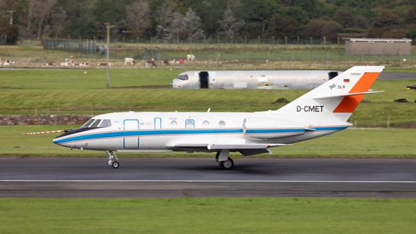 D-CMET. Dassault Falcon 20E-5. DLR - Deutsches Zentrum fuer Luft- und Raumfahrt. Prestwick. 090919.