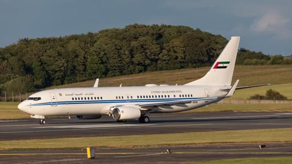 A6-MRM. Boeing 737-8EC (BBJ2). Dubai Air Wing. Prestwick. 060719.