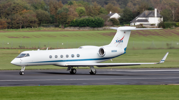 N95NA. Gulfstream Aerospace Gulfstream V. NASA. Prestwick. 061019.
