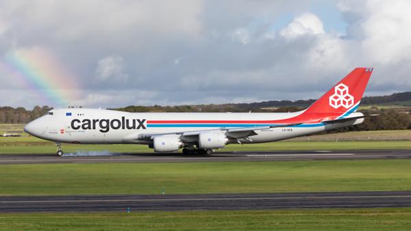 LX-VCA. Boeing 747-8R7F/SCD. Cargolux. Prestwick. 161019.