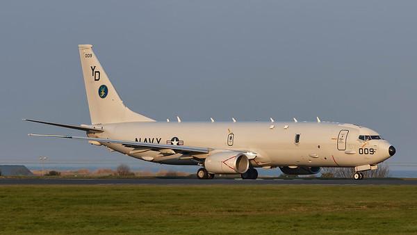 169009. Boeing P-8A Poseidon. US Navy. Prestwick. 120419.