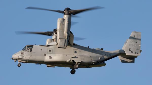 168347. Bell Boeing MV-22B Osprey. US Marines. Prestwick. 260819.