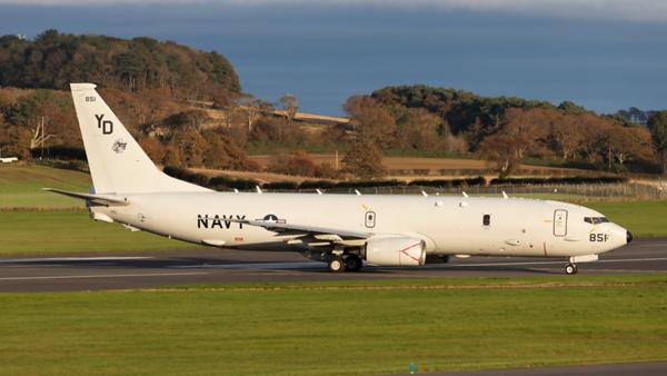 168851. Boeing P-8A Poseidon. US Navy. Prestwick. 201019.