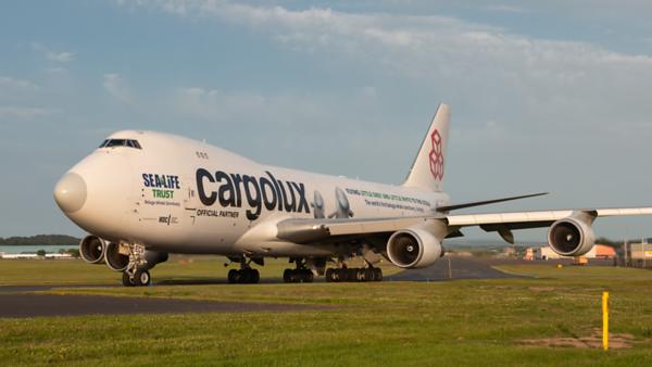 LX-ECV. Boeing 747-4HQF(ER). Cargolux. Prestwick. 290619.