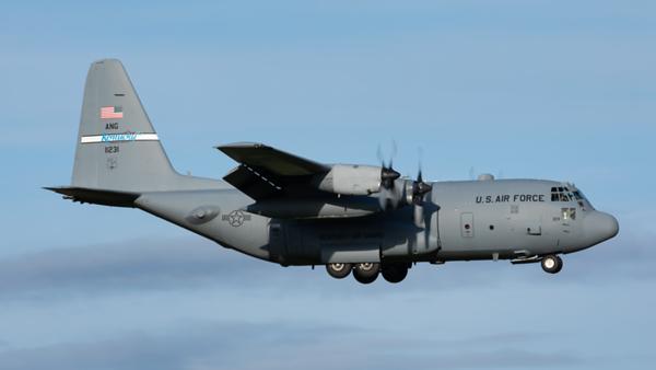 91-1231. Lockheed C-130H Hercules. USAF. Prestwick. 131119.