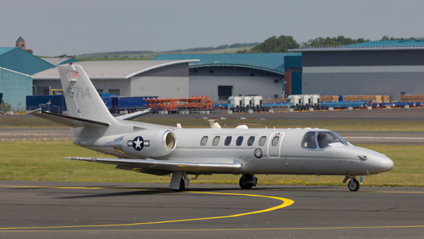 16-6714.  Cessna UC-35D Citation Encore US Marine Corps. Prestwick. 020620.