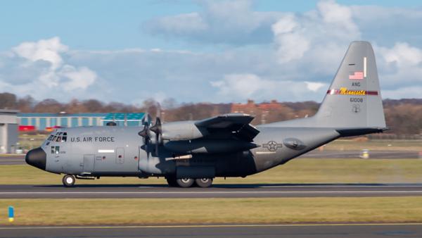 96-1008. Lockheed C-130H Hercules. USAF. Prestwick. 040320.