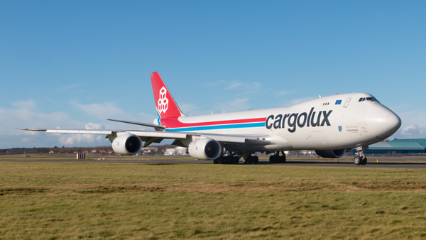 LX-VCN. Boeing 747-8R7F/SCD. Cargolux. Prestwick. 040320.