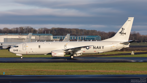 169548. Boeing P-8A Poseidon. US Navy. Prestwick. 071220.