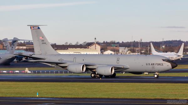 62-3515. Boeing KC-135R Stratotanker. USAF. Prestwick. 071220.