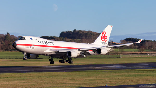 LX-NCL. Boeing 747-4EVF(ER). Cargolux. Prestwick. 241220.