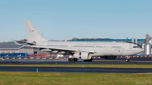 ZZ331. Airbus A330 Voyager KC2. RAF. Prestwick. 281120.