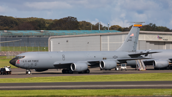 59-1450. Boeing KC-135R Stratotanker. USAF. Prestwick. 290920.