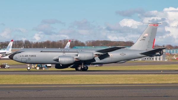62-3511. Boeing KC-135R Stratotanker. USAF. Prestwick. 040320.