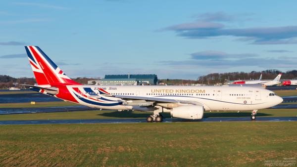 ZZ336. Airbus A330-243 (MRTT) Voyager KC1. RAF. Prestwick. 291220.