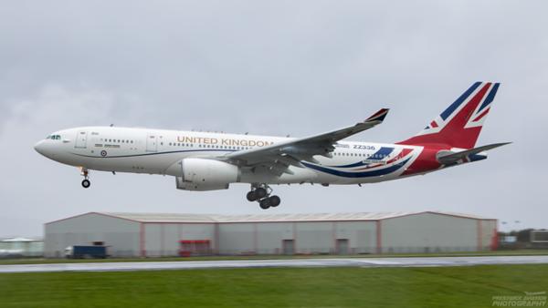 ZZ336. Airbus A330-243 (MRTT) Voyager KC1. RAF. Prestwick. 040820.