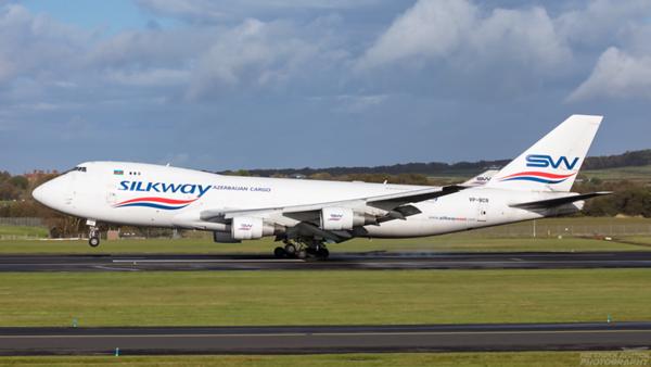 VP-BCR. Boeing 747-4H6(F). Silkway West Airlines. Prestwick. 121020.