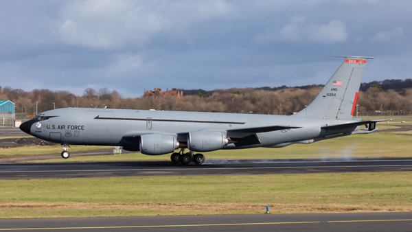 61-0264. Boeing KC-135R Stratotanker. USAF. Prestwick. 290220.