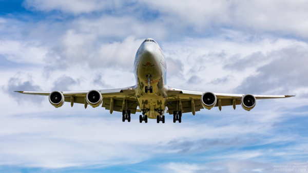 LX-VCI.  Boeing 747-8R7F. Cargolux. Prestwick. 100720.