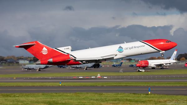 G-OSRB. Boeing 727-2S2F Adv(RE) Super 27. Oil Spill Response. Prestwick. 141020.