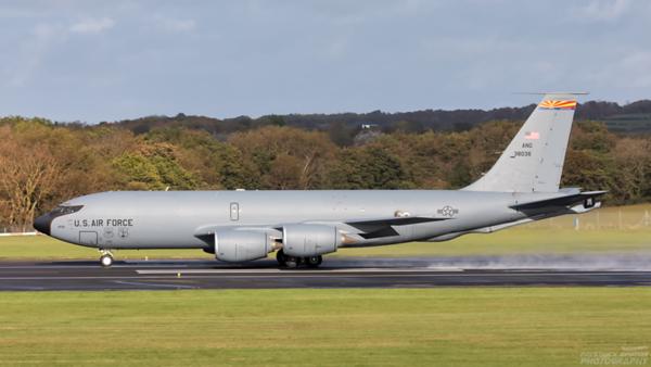 63-8036. Boeing KC-135R Stratotanker. USAF. Prestwick. 121020.