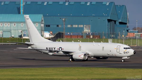 169547. Boeing P-8A Poseidon. US Navy. Prestwick. 121120.