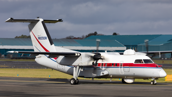 N8200R. Bombardier Dash 8 Q200. Dynamic Aviation. Prestwick. 290220.