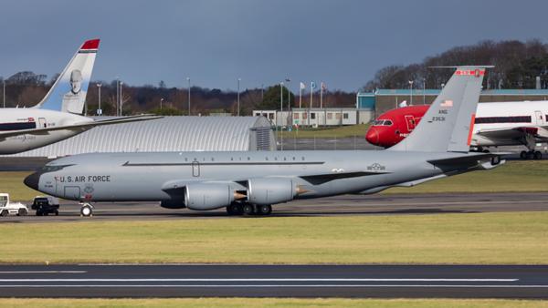 62-3531 Boeing. KC-135R Stratotanker. USAF. Prestwick. 260220.