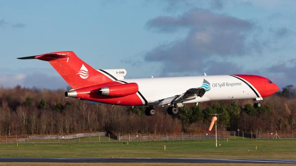 G-OSRB. Boeing 727-2S2F Adv(RE) Super 27. Oil Spill Response. Prestwick. 090120.